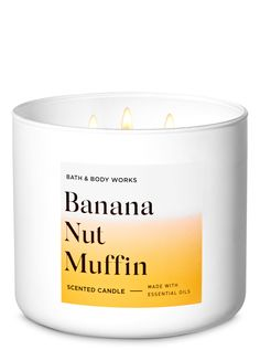 3 Wick Candles, Scented Candles, Candle Jars, Essential Oil Candles, Essential Oils, Banana Nut Muffins, Just Girly Things, Smell Good, Bath And Body Works