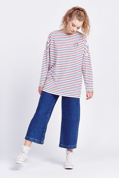 Lazy Oaf Smiley Stripe L/sleeve Tee