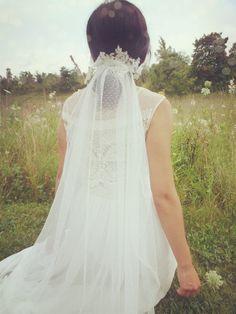 Wedding veil Dotted Veil Bridal Veil Swiss Dot by WHITECOUTURE