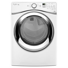 Whirlpool Duet 7.3-cu ft Stackable Electric Dryer with Steam Cycles (White) ENERGY STAR - Dryer option for home makeover