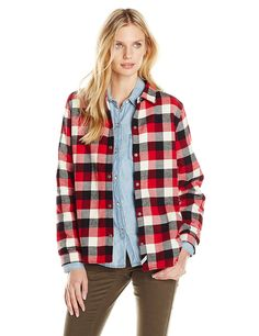 Woolrich Women's Pemberton Fleece Lined Flannel Shirt Jacket * Be sure to check out this awesome product.