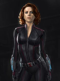 Unused Black Widow Design Released | Posting on his Twitter account, Marvel Studios designer Andy Park revealed an unused Black Widow design, which has Scarlett Johansson's character garbed in far more red than her final look. | I actually like this one way better.