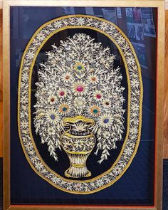 We recently framed this beautiful and intricate beaded tapestry the artwork was quite deep so we set it into a box frame.