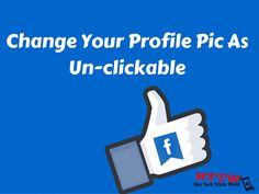 New Tech Tricks World: How To Change Profile Picture On Facebook As Uncli...