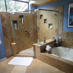 bathroom tub and shower layout