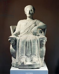 Cinerary statue, from Chiusi (Tuscany). Etruscan Civilization, 5th Century BC.