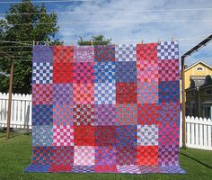 Appropriately titled The Summer Berries Quilt. By Finnish quilter Hedgehog of Life's a Quilt.