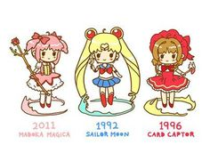 My favorite Magical Girls ♡ all are super worth watching/reading!