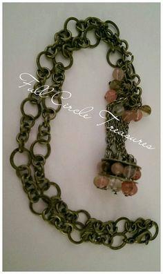 Handmade necklace Gift for her Cherry by FullCircleTreasures