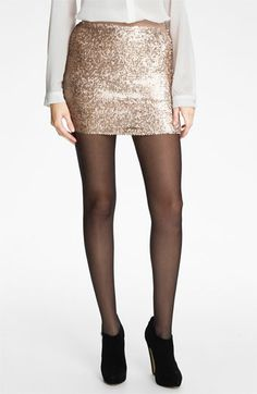 Get this look now at Nordstrom.com.  Lily White Sequin Miniskirt (Juniors) available at #Nordstrom
