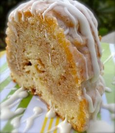 Spiced Eggnog Bundt Cake Recipe ~ Says: See that swirl of spice goodness in the middle?  That my friends, is heaven on a plate!