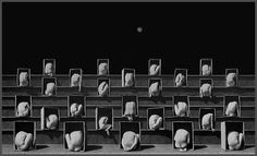 crowd silver gelatin print 25 x 38 in Misha Gordin : 'the new crowd' (conceptual photography) Conceptual Photography, Contemporary Photography, Conceptual Art, Art Photography, Movement Photography, Famous Photography, The Wicked The Divine, Foto Art, Magazine Art