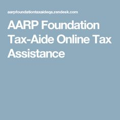 AARP Foundation Tax-Aide Online Tax Assistance