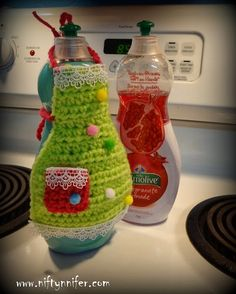 Niftynnifer's Crochet & Crafts: Dish Soap Apron Free Crochet Pattern By Niftynnifer PDF