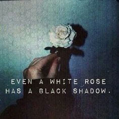 HipsterishGoth : Photo Grunge photography Even a white rose has a black shadow