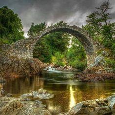 Old Packhorse Bridge, Carrbridge, Scotland