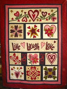Live Laugh Love Full Kit - Quilting by the Bay in Panama City, Florida featuring Quilting Fabric, Quilt Books, Quilt Patterns and Quilt supplies