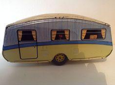 Mettoy tinplate caravan 1950 s