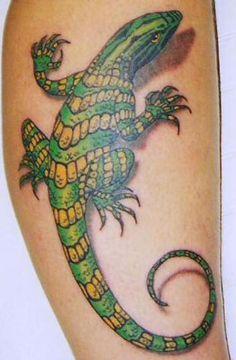 Realistic Lizard Tattoos