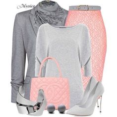 Pink and gray fashion