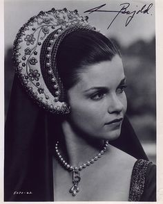 Genevieve Bujold as Queen Anne Boleyn in the Anne Of The Thousand Days movie.