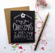 Brilliant chalkboard inspired holiday cards, $7.50 for 4. #cydconverse