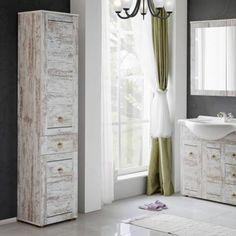 Na tych zdjęciach nie widać jaki to ciepły odcień jest. Serie mebli łazienkowych - Prowansja w sklepach Leroy Merlin.