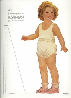 Shirley Temple paper doll