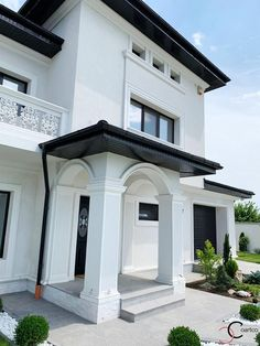 Proiect Casa Rezidentiala Galati – Profile Decorative House Entrance, Facade House, Home Fashion, Home Goods, Exterior, Nice, House Styles, Profile, Outdoor Decor