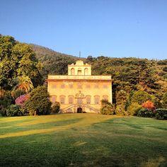 La magnifica Villa Agostini della Seta of Corliano al tramonto