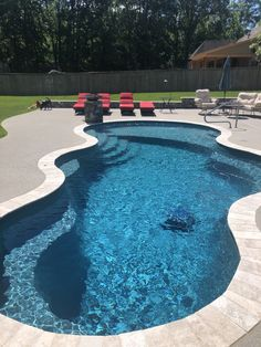 Look at our domain for a whole lot more in regard to this striking pool decorations Backyard Pool Landscaping, Backyard Pool Designs, Small Backyard Pools, Small Pools, Swimming Pools Backyard, Outdoor Pool, Outdoor Spaces, Inground Pool Designs, Swimming Pool Designs