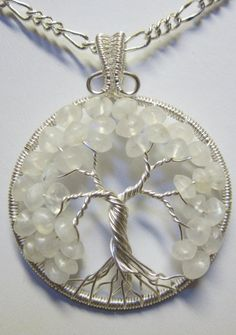 Rainbow Moonstone Tree of Life by Mariesinspiredwire on Etsy, $43.00