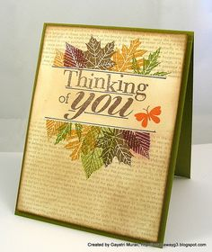 Gorgeous - Inks: More Mustard, Suede, Old Olive, Bravo Burgundy, Cake Crumb and Basic Brown