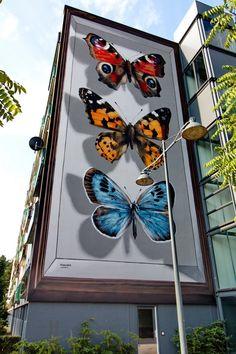 Street art by Mantra in Breda, Netherlands. Street Art Banksy, Murals Street Art, Graffiti Wall Art, Mural Wall Art, Mural Painting, Mantra, Amazing Street Art, Amazing Art, Art Public