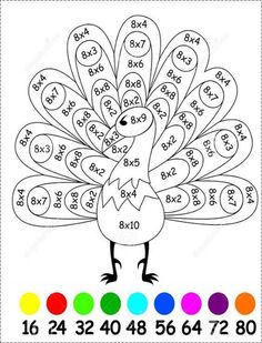 Are you looking for a fun way to teach and practice multiplication? Are you looking for a fun way to teach and practice multiplication? Are your students finding it hard to learn their Math Coloring Worksheets, Kids Math Worksheets, Math Games, Math Activities, Math Multiplication, Math Math, Third Grade Math, Homeschool Math, Math For Kids