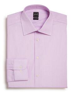 Ike Behar Textured Solid Dress Shirt - Classic Fit