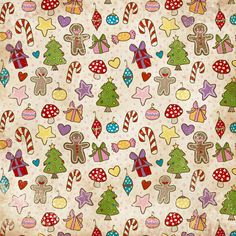 A Print A Day Printable Holiday Papers - Paper Crave Christmas Sewing, Noel Christmas, Christmas Paper, Christmas Doodles, Christmas Patterns, Christmas Background, Paper Background, Background Patterns, Papel Scrapbook