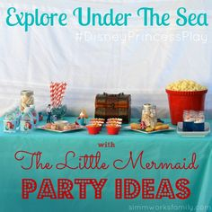 Explore Under The Sea with Ariel and The Little Mermaid Party Ideas #DisneyPrincessPlay #shop #cbias