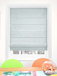 Dupioni Faux Silk Duck Egg Roman Blind from Blinds 2go