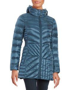 Bernardo Packable Quilted Jacket Women's Dark Marine Blue X-Large
