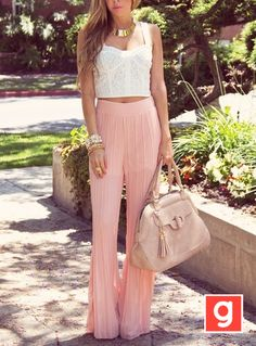 Love the pants and crop top
