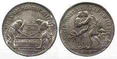 """1720 Deutschland - Medaillen """"MEIN HERZ ISTS"""" MARRIAGE Medal by Wermuth ca.1720 white metal 31mm # 81716 VF Coin Prices, Zinn, Marriage, Personalized Items, Metal, Heart, Valentines Day Weddings, Mariage, Wedding"""
