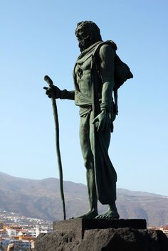 One of the Guanches' leaders in Candelaria, Tenerife. (The Guanches are the mysterious natives of the Canary Islands, blonde with blue eyes.)