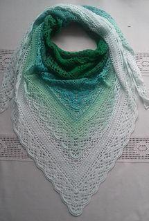 Ravelry: Klaziena Shawl pattern by Kirsten Bishop Crochet Shawls And Wraps, Crochet Poncho, Crochet Scarves, Lace Knitting, Crochet Yarn, Crochet Clothes, Crochet Stitches, Free Crochet, Shawl Patterns