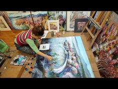 """Encaustic-inspired mixed media layering (""""Landscapes of intention"""") - YouTube"""