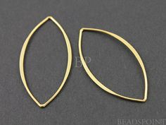 24K Gold Vermeil Over  Sterling Silver Open Long by Beadspoint, $5.99