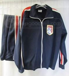 shopgoodwill.com: Awesome USA Cultural Exchange Jogging Suit VTG