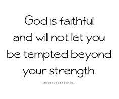 He is faithful!  He has kept me.  :)