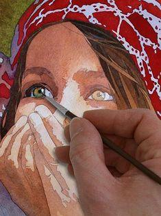 Pas à pas aquarelle dessin comment peindre dessiner