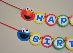 Sesame Street Banner, Sesame Street Birthday Party, Elmo and Cookie Monster Banner Elmo First Birthday, First Birthday Banners, 3rd Birthday Parties, Birthday Ideas, Sesame Street Party, Sesame Street Birthday, Sesame Street Decorations, Street Banners, Elmo And Cookie Monster